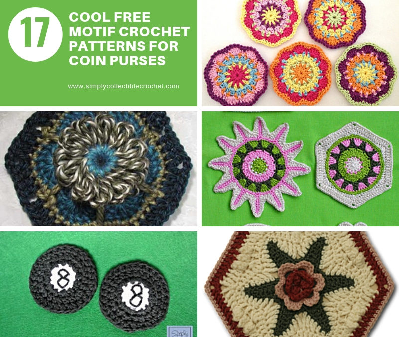 17 Cool Free Motif Crochet Patterns for Coin Purses