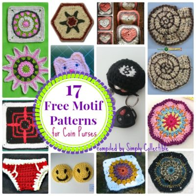 17 Cool Free Motif #crochet patterns for Coin Purses | SimplyCollectibleCrochet.com