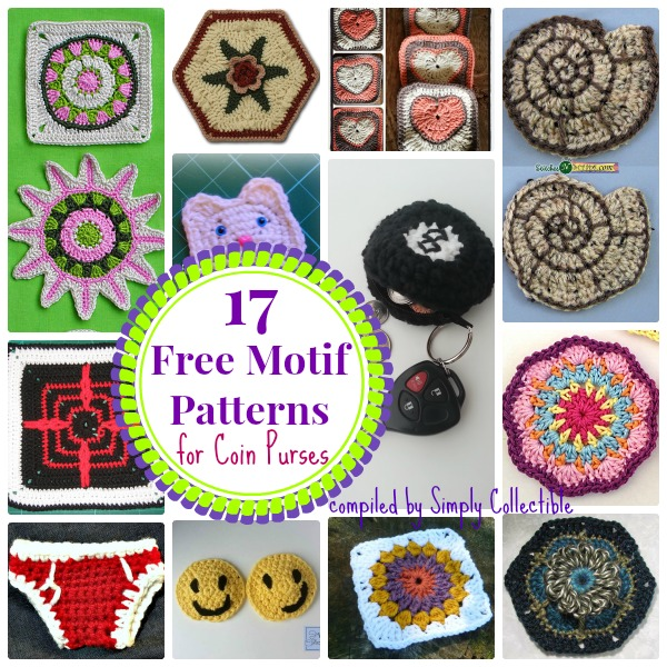 SimplyCollectibleCrochet.com | 17 Cool Free Motif crochet patterns for Coin Purses