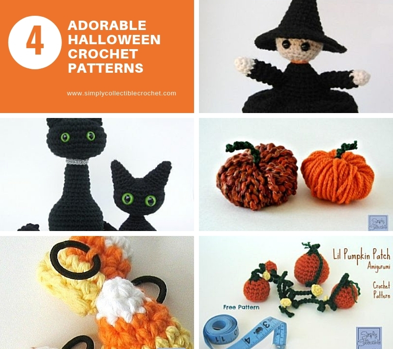 4 Adorable Halloween Crochet Patterns