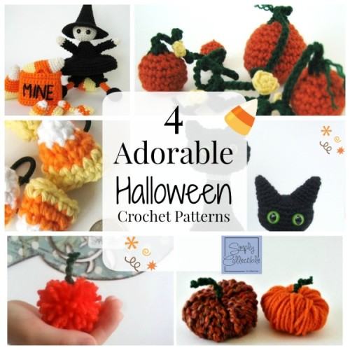 4 Adorable Halloween #crochet patterns by SimplyCollectibleCrochet.com
