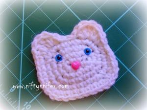 Kitty Cat Motif #crochet pattern