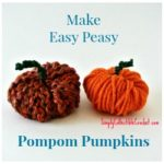 SimplyCollectibleCrochet.com | Make an Easy Peasy Pompom Pumpkin in less than 5 minutes