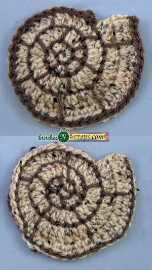 Spiral Seashell Motif #crochet pattern