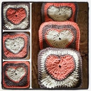 Valentine Heart Granny Square #crochet pattern