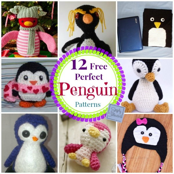 12 Free Perfect Penguin #CrochetPatterns compiled by Simply Collectible @SCCelinaLane
