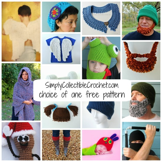 SimplyCollectibleCrochet.com choice of one free pattern