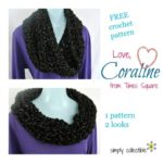 Free Cowl #crochet pattern - Coraline on Times Square by Simply Collectible