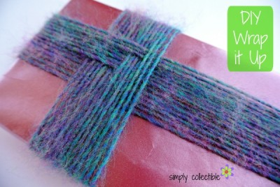 Wrap it Up, Too - Gift Wrap with Yarn by Simply Collectible using @LionBrandYarn @SCCelinaLane
