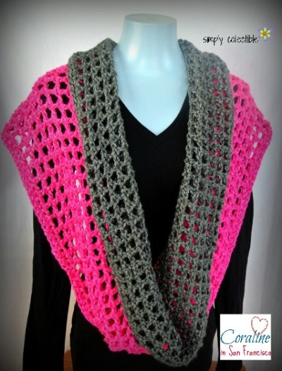 Coraline in San Francisco Cowl Wrap - Wear it 8 different ways - free #crochet pattern by Celina Lane, Simply Collectible