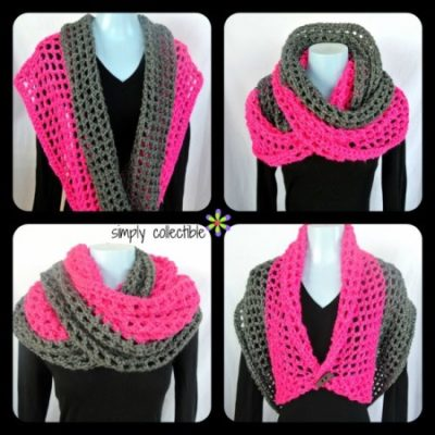 Crochet Cowl Pattern - Coraline in San Francisco, SimplyCollectibleCrochet.com