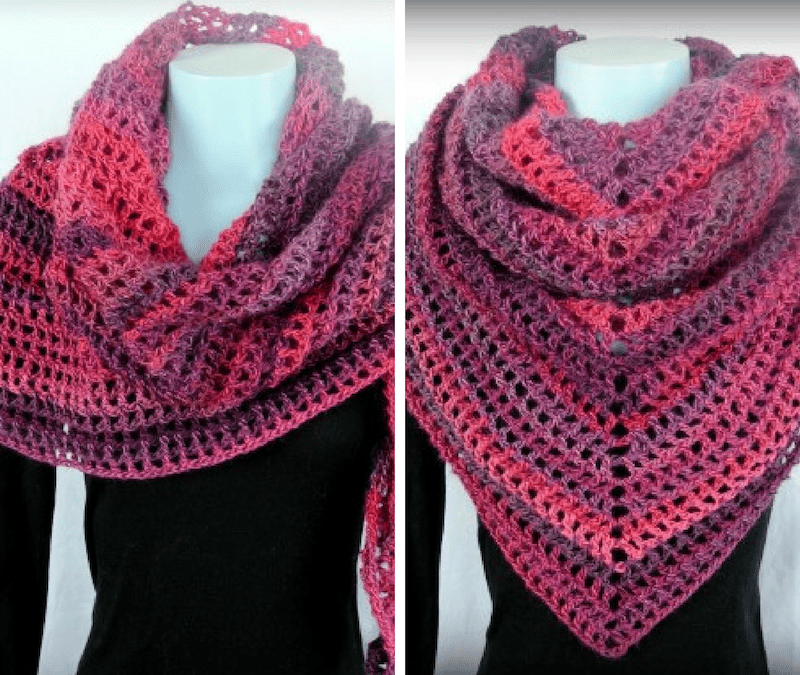 Coraline in the Wine Country Shawl and Wrap crochet pattern