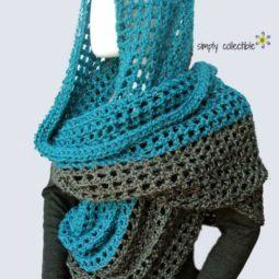 Coraline in Minden Cozy Oversized Free Cowl Wrap Pattern