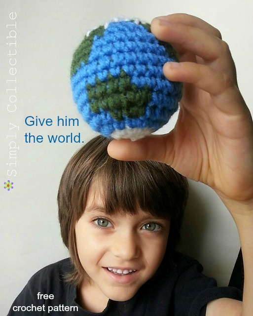 Give him the world - Earth Amigurumi Free #crochet pattern from Simply Collectible