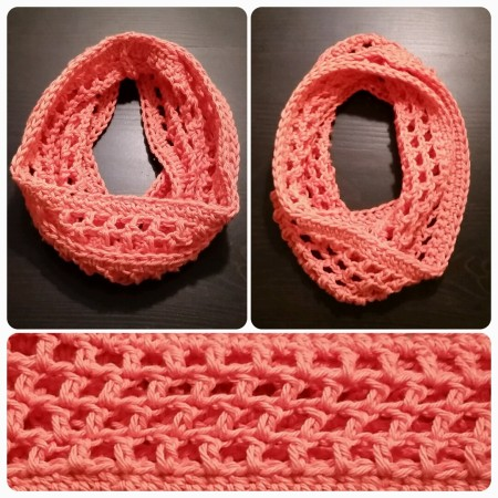 Coraline in Morocco , free pattern - I used I Love This Cotton yarn from Hobby Lobby and made this as a toddler infinity scarf. I love how it turned out!