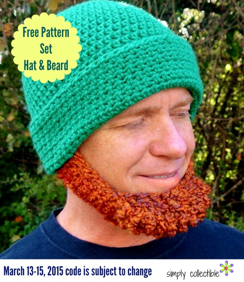Irish Chin Beard Hat Set