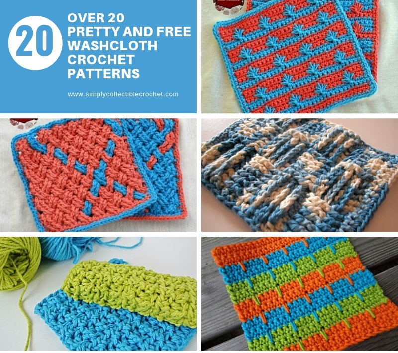 Over 20 Pretty and Free Washcloth Crochet Patterns