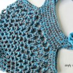 Sturdiest Ever Market Bag crochet pattern in hot blue & espresso by Celina Lane, Simply Collectible
