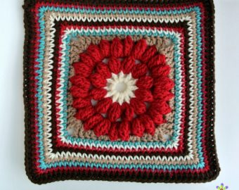 Whimsical Penelope's Merry Go Round – Free 12 inch Square Crochet Pattern
