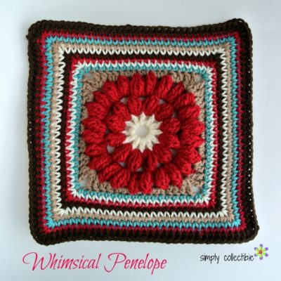 Whimsical Penelope's 12 Square, Easy, Pretty, and Free #crochet pattern by Celina Lane, Simply Collectible 1