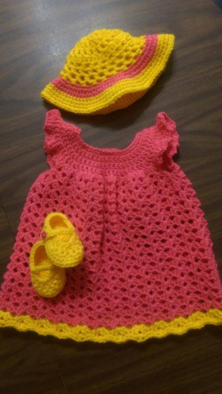 BabyOliviaSet - Coraline Sun Hat (baby) - free crochet pattern - It was super quick to work up! I was able to make this last minute in a short period of time =) (and it's cute!)
