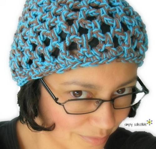 Penelopes Beach Beanie in cotton - free crochet pattern by Simply Collectible