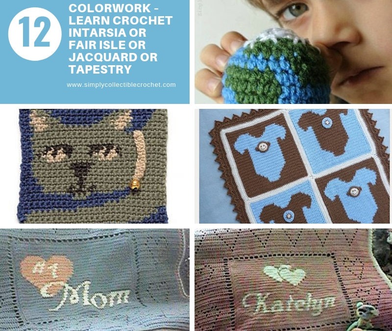 Colorwork – Learn Crochet Intarsia or Fair Isle or Jacquard or Tapestry