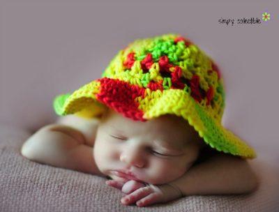 Coraline's Sun Hat free crochet pattern for Child (20″)