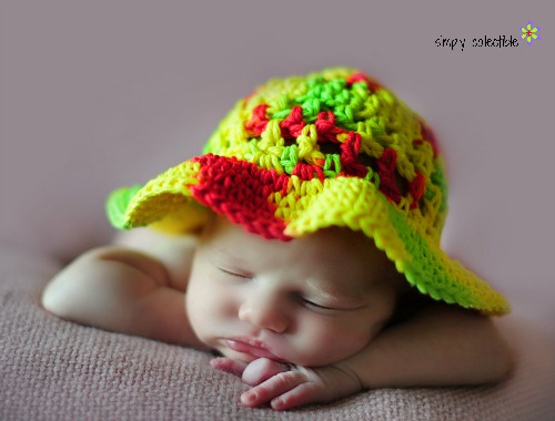 Coraline's Sun Hat Free crochet pattern - Infant to Adult Sizes - by Simply Collectible