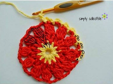 Firewheel Scrubbie free crochet pattern by Simply Collectible (my notes)