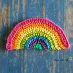 Rainbow Daze Free Dishcloth #crochet pattern by Simply Collectible
