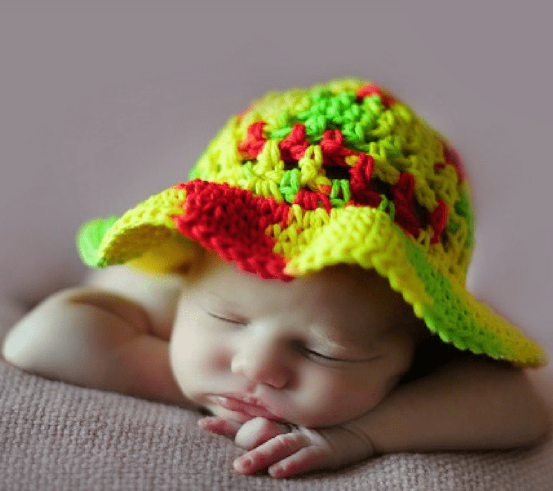 Coraline's Sun Hat free crochet pattern for Baby to Toddler
