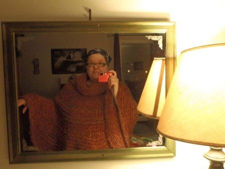 Cowl Hooded Poncho - free crochet pattern - This pattern was easy to follow, works up relatively quickly, and even those new to crocheting could make this easily! I'm debating making a multi color version now! :)