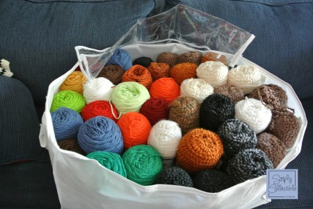 Frugal Organizing - Sweater, Clothes, and Closet Organizers can contain multiple skeins in a jiffy! - SimplyCollectibleCrochet.com