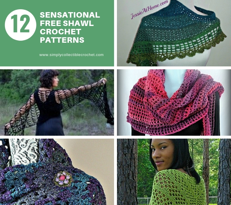 40e60b17c3e2 12 Sensational Free Shawl crochet patterns • Simply Collectible Crochet