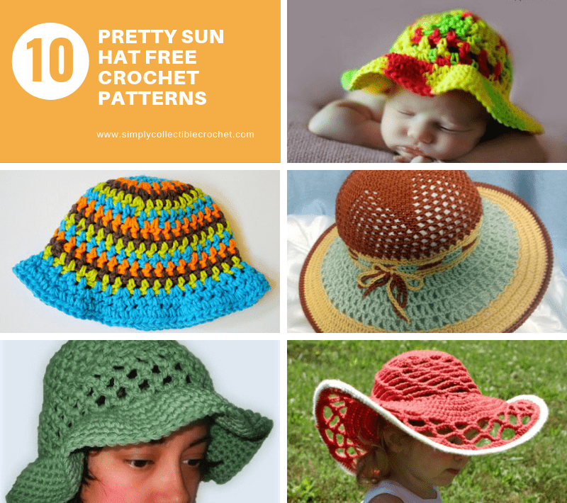 10 Pretty Sun Hat Free Crochet Patterns Simply Collectible Crochet