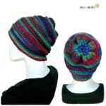Penelope's Whimsical Floral Slouch Hat free crochet pattern by SimplyCollectible