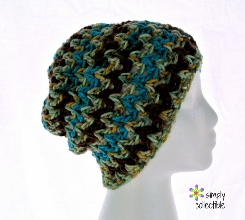 2f7e8ac50ef Desert Hope Slouch Beanie crochet pattern – Make it with or without a band!  by Simply Collectible Crochet