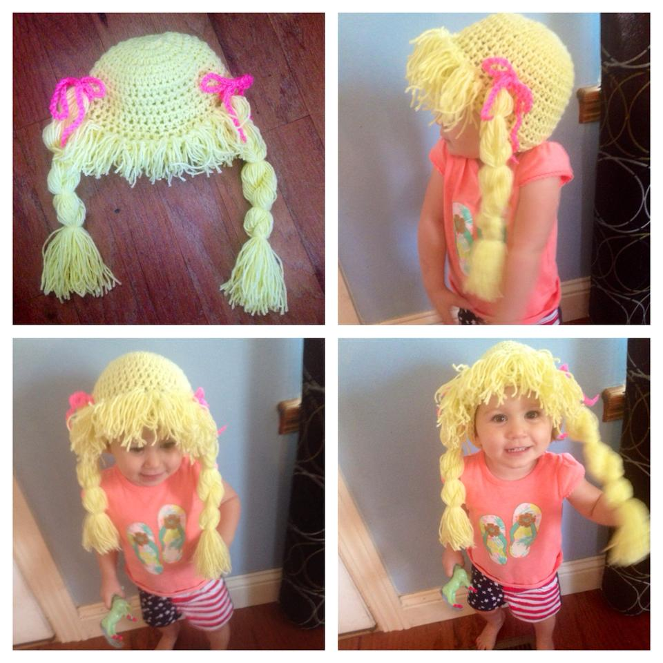 SimplyCollectibleCrochet Pigtails & Wig Hat crochet pattern