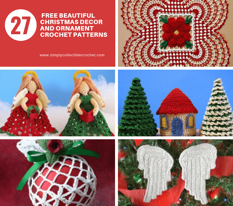 27 Free Beautiful Christmas Decor and Ornament Crochet Patterns