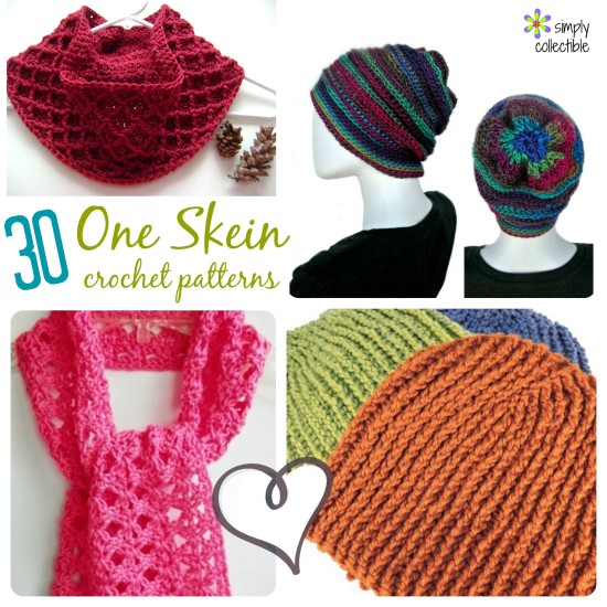 Free Quick And Easy Crochet Gift Patterns : 30+ Free, One Skein crochet patterns - Quick and Easy for ...
