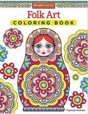 Coloring!! Pretty - Folk Art coloring book