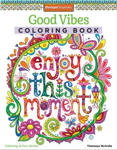 Coloring!! Pretty - Good Vibes coloring book