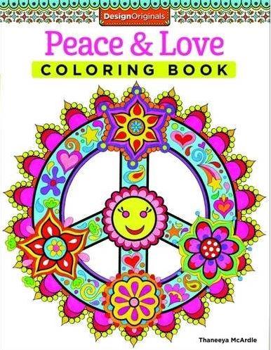 Coloring!! Pretty - Peace & Love coloring book