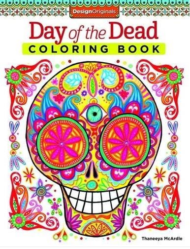 Coloring!! skulls - Day of the Dead
