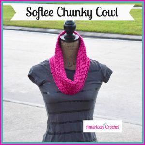 Softee Chunky Cowl and MORE Free One-Skein crochet patterns compiled by Simply Collectible