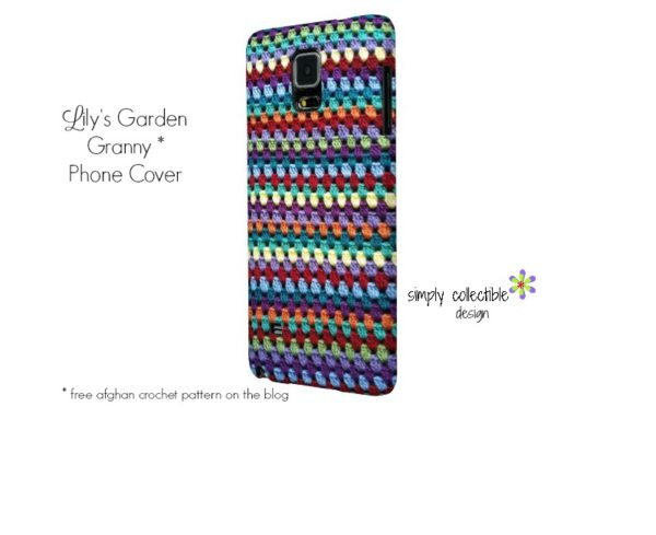 Lily's Garden Granny Phone Cover by SimplyCollectibleCrochet.com