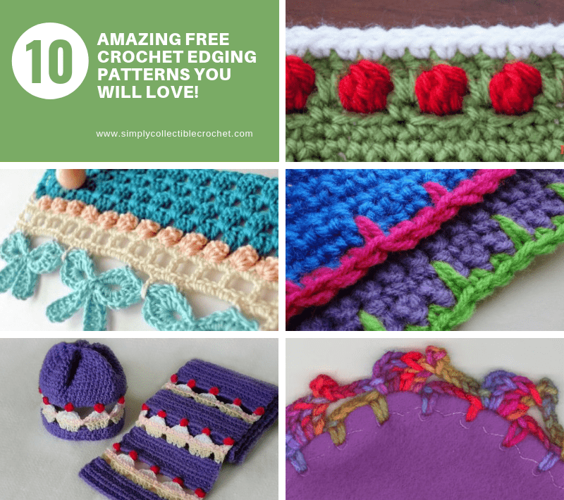 10 Amazing Free Crochet Edging patterns you will love! • Simply