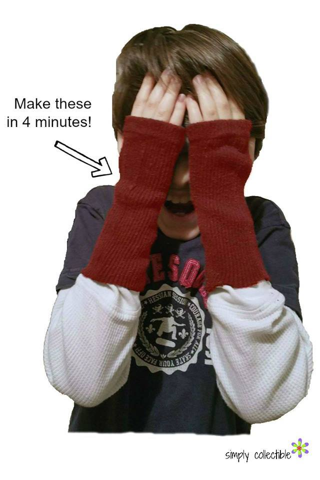 DIY – Fingerless Gloves in 4 minutes!