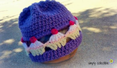 Adorable Cupcake Lovers Beanie free crochet pattern - Infant to Adult, by Celina Lane, SimplyCollectibleCrochet.com